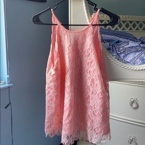 Pink lacy tank top